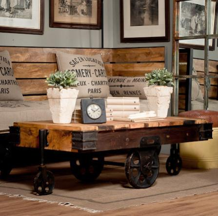 Warehouse Cart Coffee Table - Retro Back In Fashion - Blogs - Furniture And Woodworking Forum