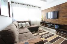 A brown-colored designed room.