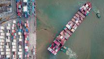 Sea freight is much more affordable.