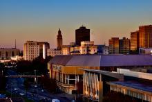 Baton Rouge skyline.