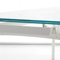 Bridge - Extendible Glass Table by Angelo Tomaiuolo