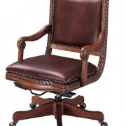 SONOMA ANTIQUE BARK LEATHER OFFICE CHAIR