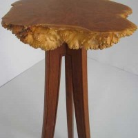 Burl Stands by Merganzer Furniture & Design