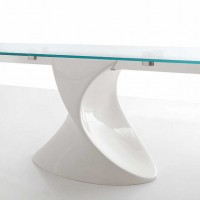 Shanghai - Extendible Glass Table by Angelo Tomaiuolo