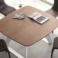 Brenta - wooden top table by Angelo Tomaiuolo
