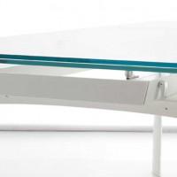 Bridge - Extendible Glass Table by Angelo Tomaiuolo