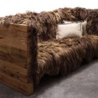 Long Wool Sofa, Designer: Nersi Nasseri