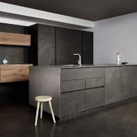 Concrete Vintage Oak Kitchen