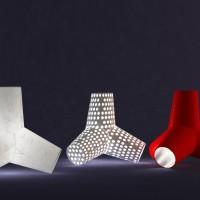 Tetraëder lamp ð by Jeanne Dekkers