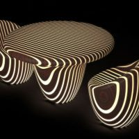 Bright Woods Collection - Luxury Led Backlit Wood Furniture by Giancarlo Zema