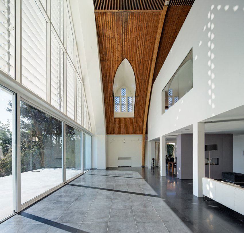 Modern house in a church by ruud visser architects