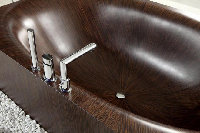Wooden Bathtubs and Sinks by aLegna