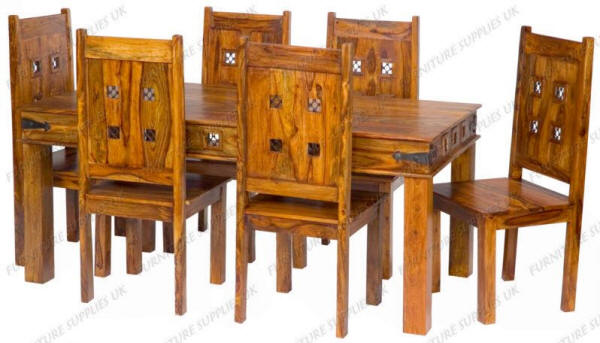 jali sheesham dining table 2