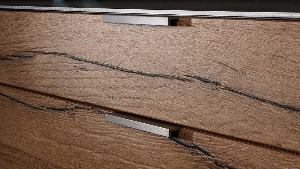 concrete vintage oak kitchen eggersmann wood. Black Bedroom Furniture Sets. Home Design Ideas