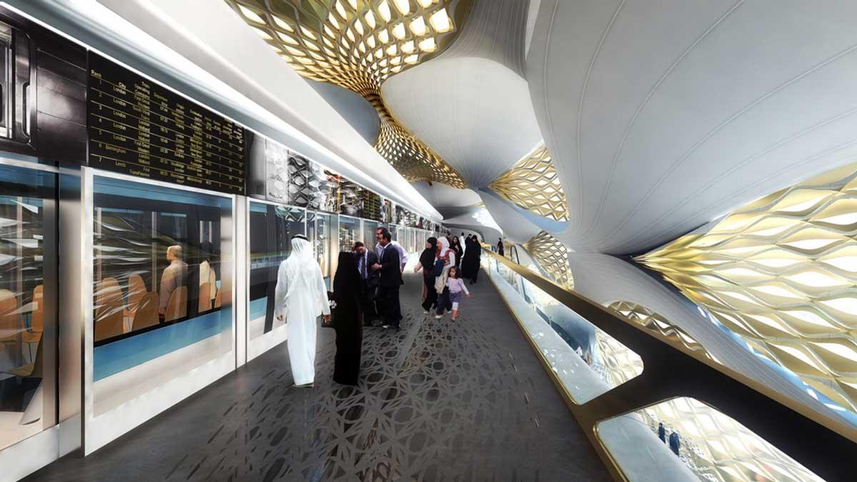 King Abdullah Financial District Metro Station Zaha