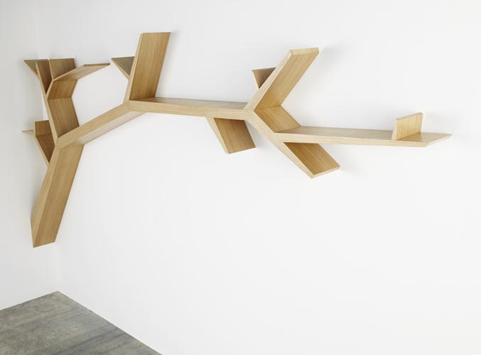 Tree Branch Bookshelf By Olivier Doll Wood