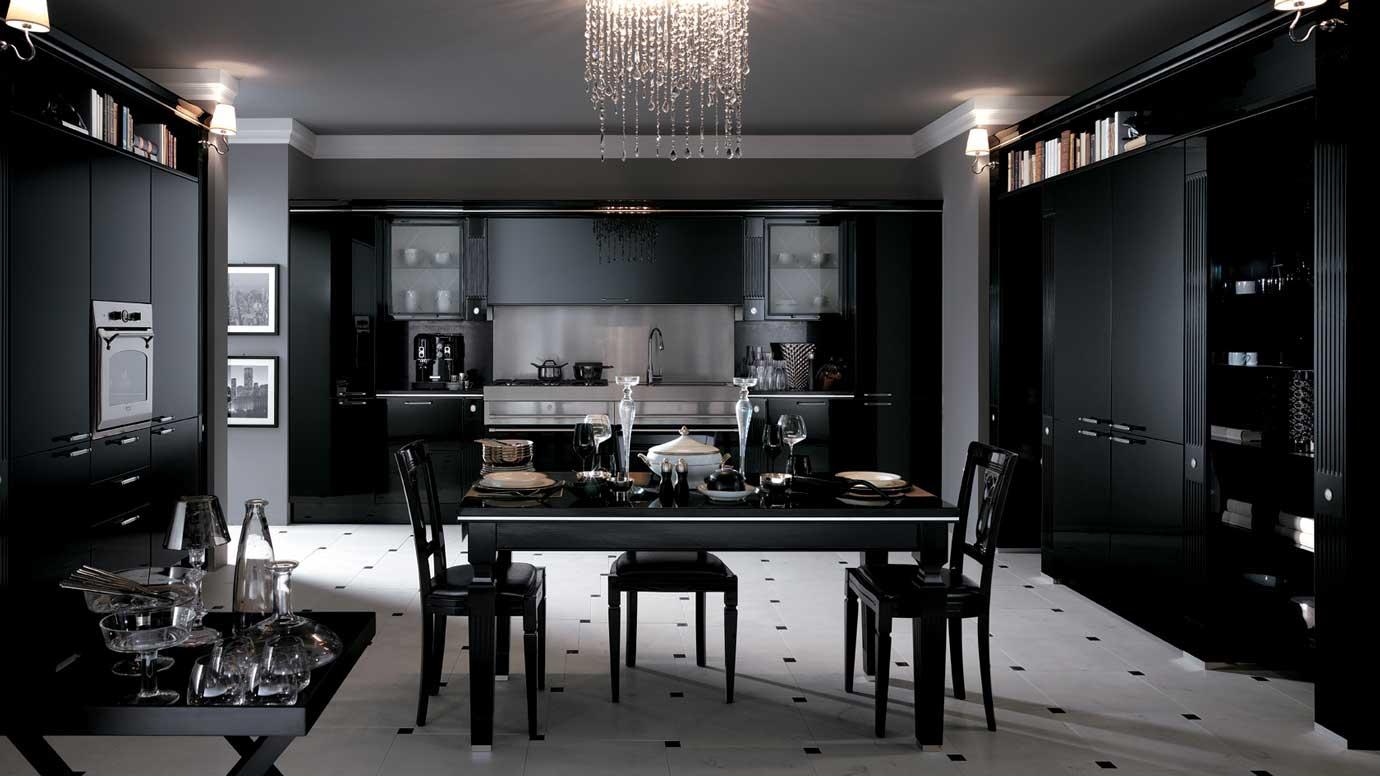 Черная кухня в интерьере фото