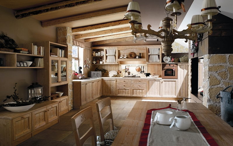 Awesome Cucina Con Camino Contemporary - augers.us - augers.us