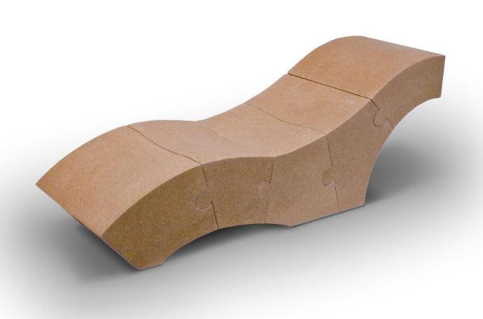D 39 Arc Studio Chaise Cork Wood