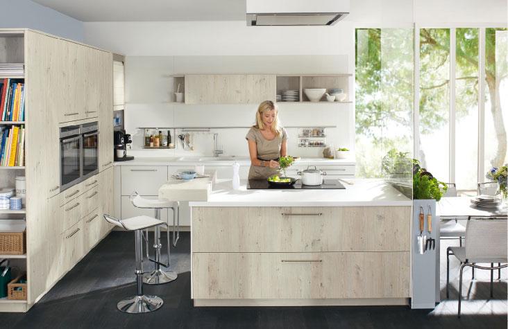 cream shades kitchen ballerina k chen wood. Black Bedroom Furniture Sets. Home Design Ideas