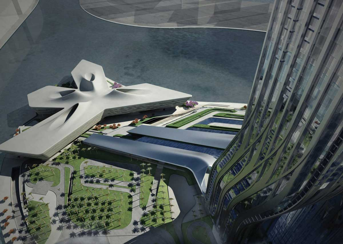 Dubai Financial Market Zaha Hadid Architects Wood