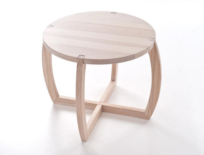 Joint coffee table design antonio onorati formabilio for Table joints