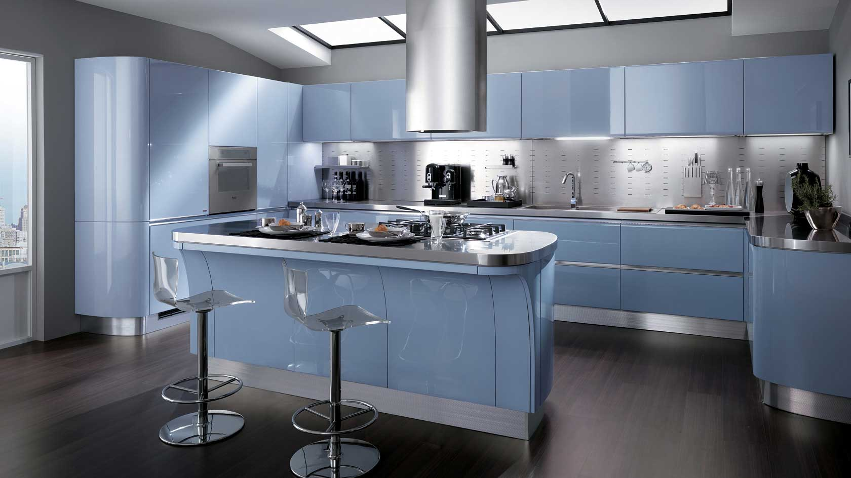 Scavolini | Tess Kitchen by Silvano Barsacchi | Wood - Furniture.biz