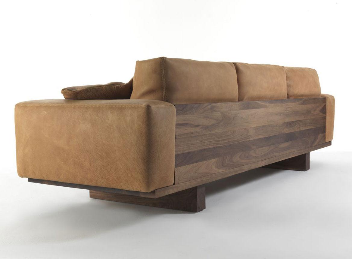utah sofa designed by davide e maurizio riva riva 1920 wood. Black Bedroom Furniture Sets. Home Design Ideas