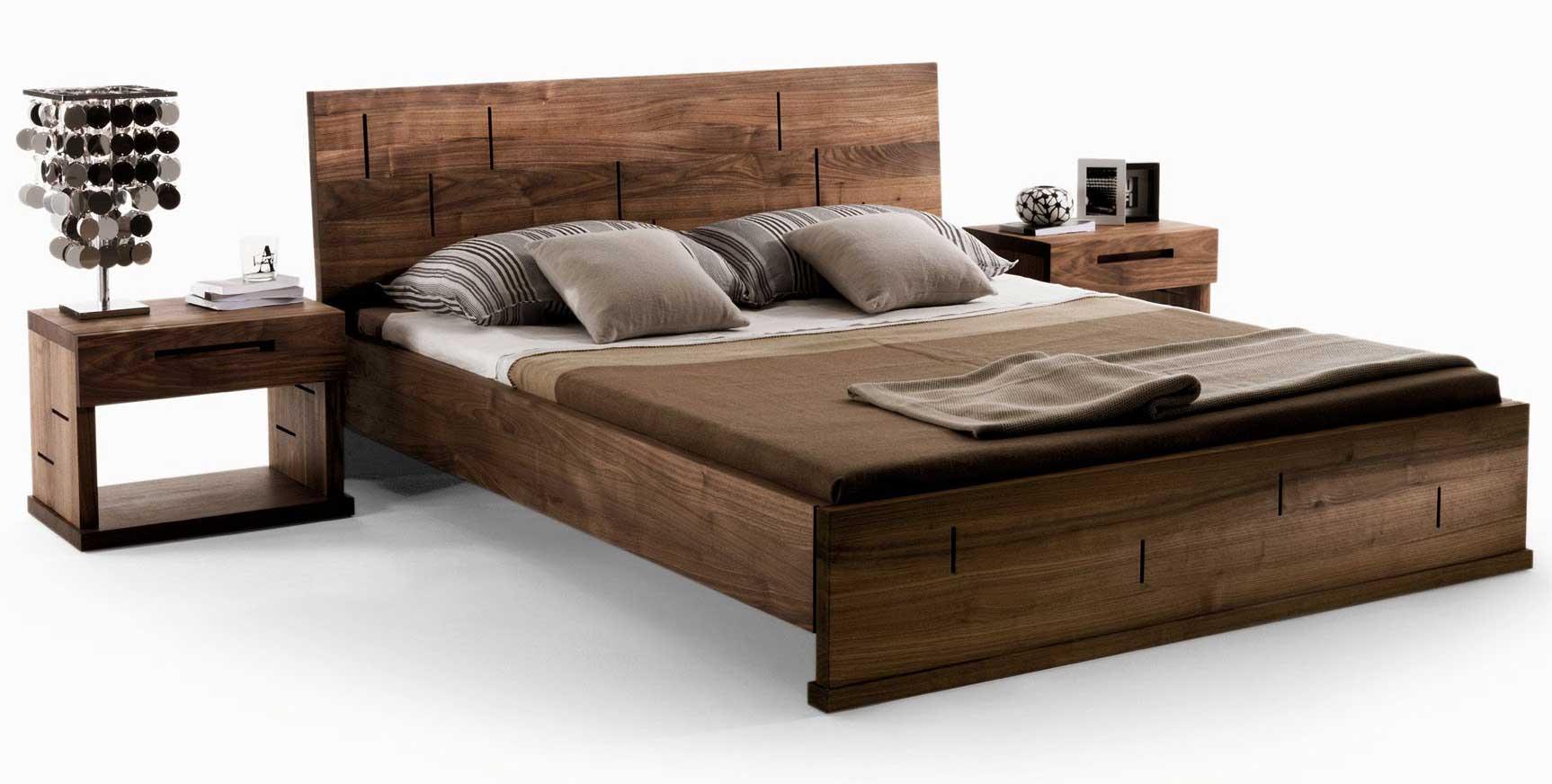 Vera bed riva 1920 wood for Furniture 0ne