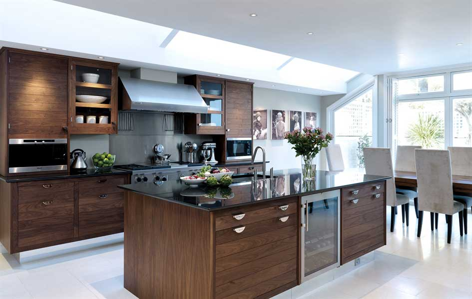 Walnut & Silver Kitchen  Smallbone of Devizes  Wood Furniture biz