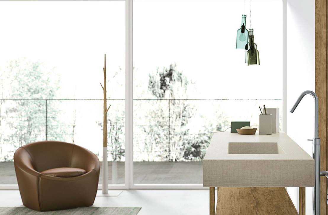 Aria bathroom by imago design for altamarea wood for Imago design