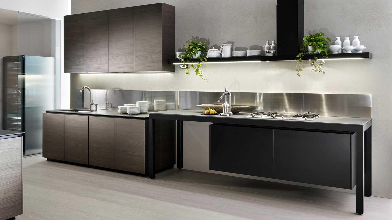 Banco kitchen by luca meda dada wood for Meuble cuisine suspendu
