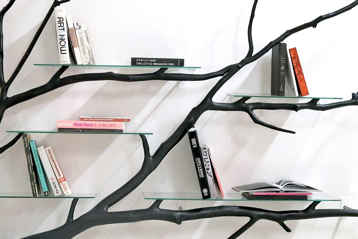 Bilbao tree shelf by sebastian errazuriz wood for Tree of life bookshelf