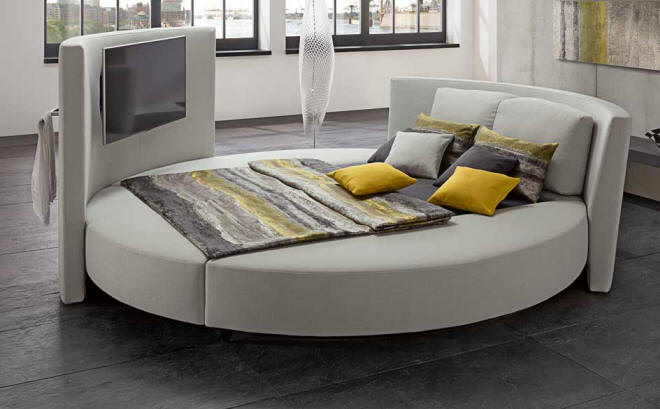 cinemaro luxurious round bed ruf betten wood. Black Bedroom Furniture Sets. Home Design Ideas