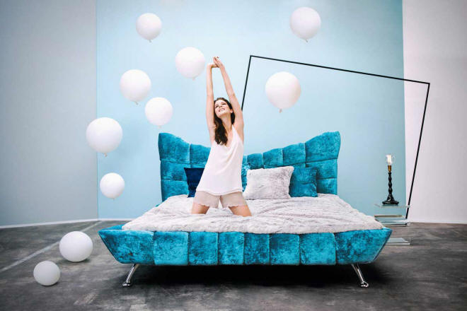 Cloud 7 Bed by Martina Münch for Bretz