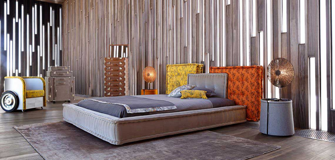 mah jong bed by marco fumagalli for roche bobois wood. Black Bedroom Furniture Sets. Home Design Ideas