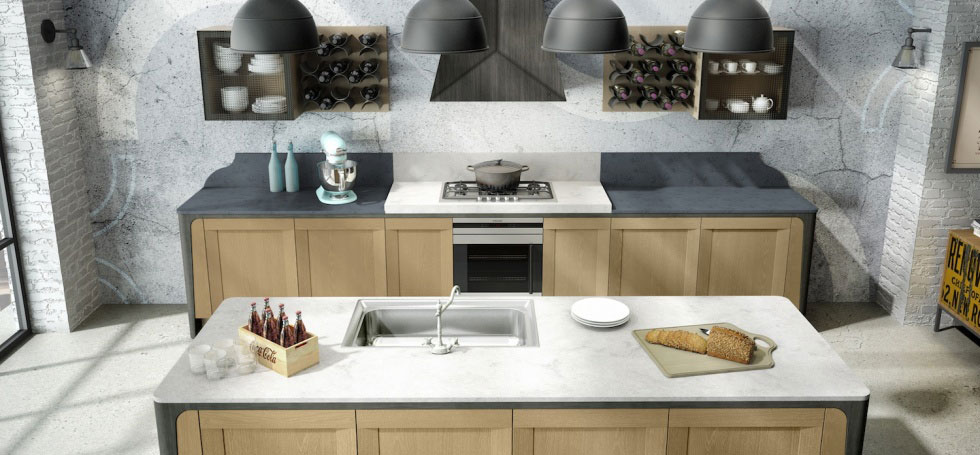 Milano kitchen wood for Home decor milano