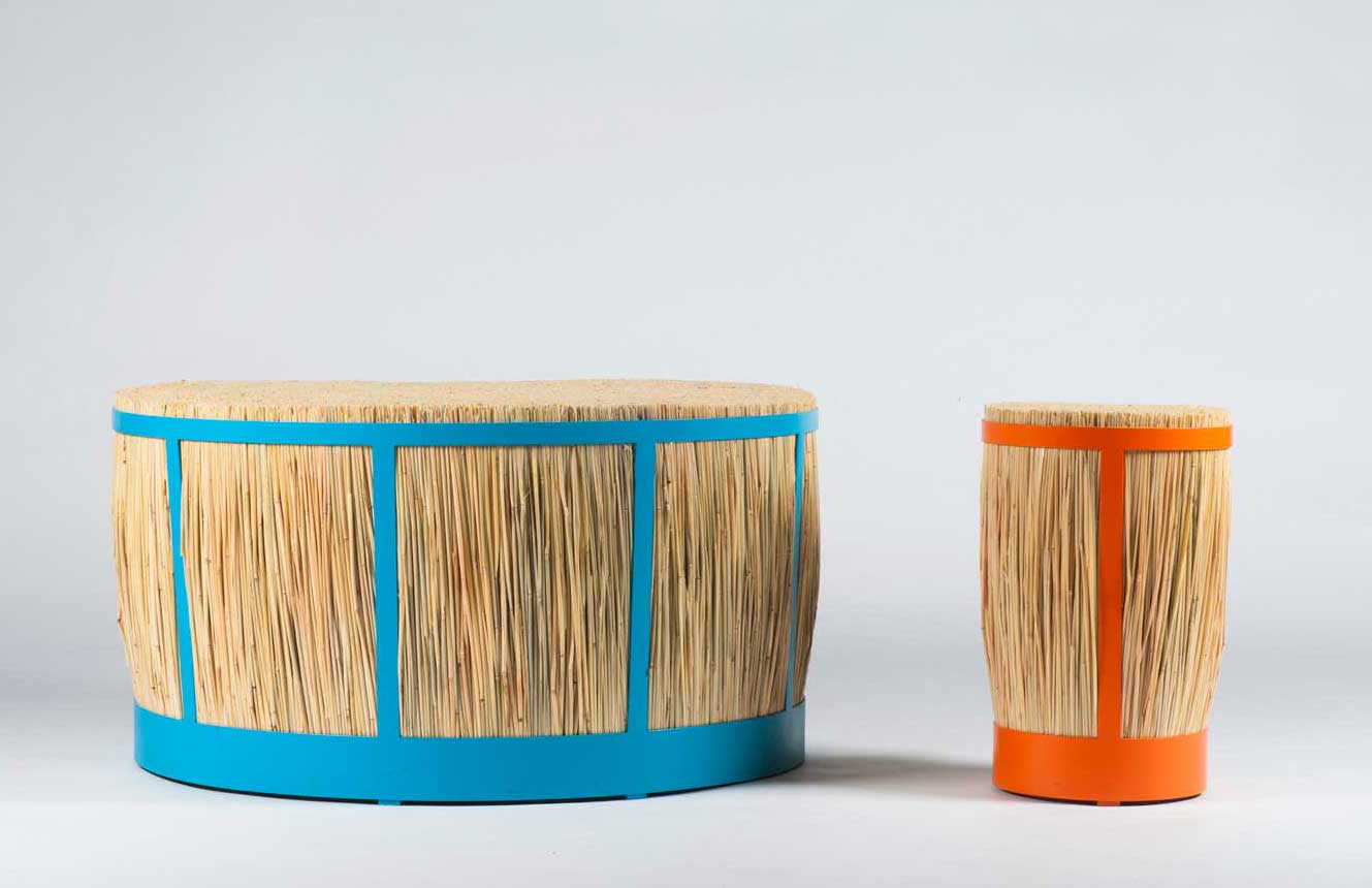 Straw Stool By Juan Cappa Wood Furniture Biz
