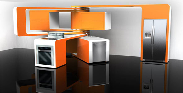 motorolas consumer experience design group entered the 2008 electroluxinterior design magazine competition for innovative kitchen design and took the