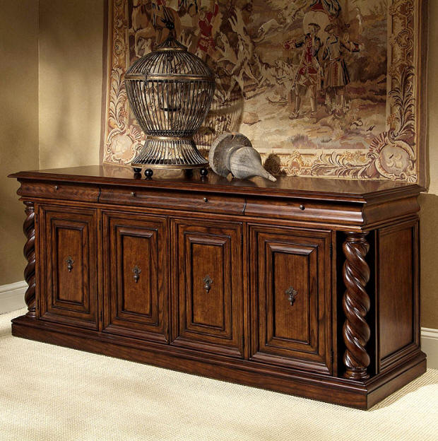 Wood Products Entertainment Centers Century Furniture Spiral Post