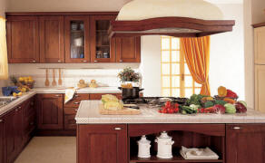 Beautiful-Kitchen-Island-Design-with-Stove-and-Countertop-Wooden-Cabinets-and-Shelves