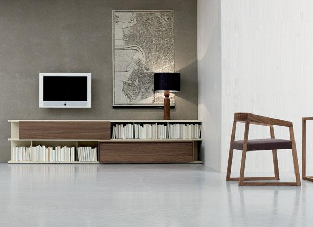 Wood products wall units santarossa - Mobili bassi per soggiorno ...