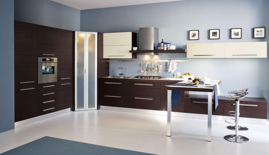 Wood photos cacao kitchen - Cucine moderne con dispensa ...