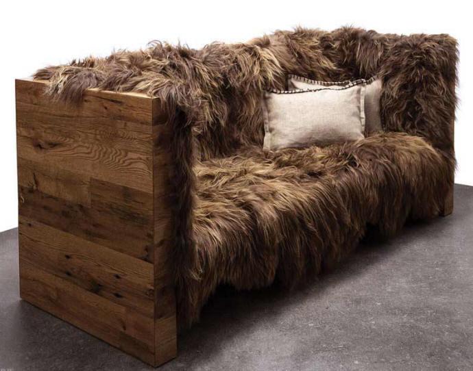 Wood - Furniture.biz  Photos  Long Wool Sofa, Designer ...